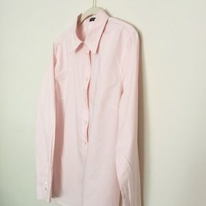 Pale pink button up shirt L